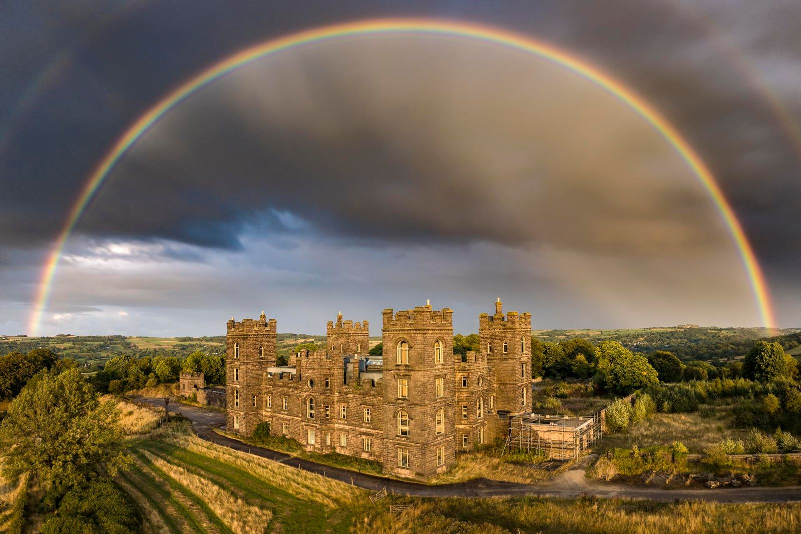 Rainbow Over Riber Castle