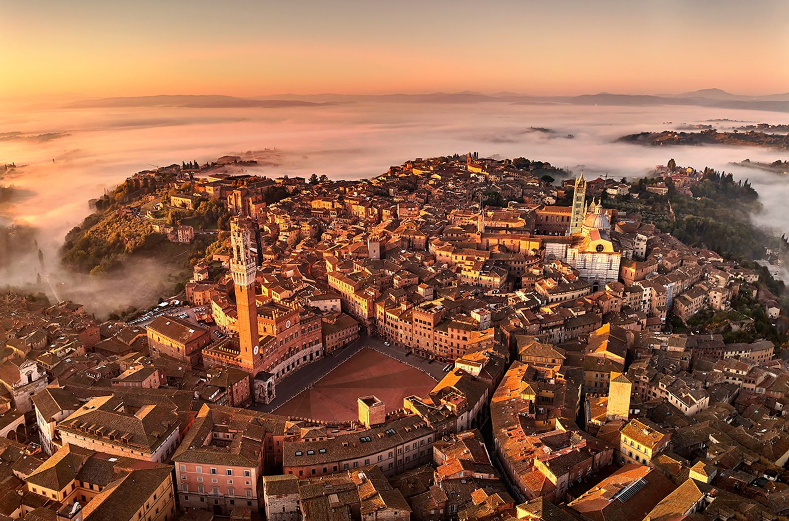 Siena under fog siege