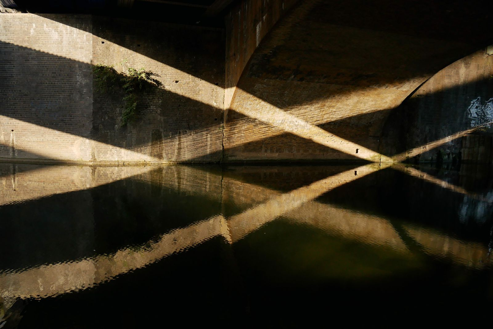 Shafts of sunlight, intersected and reflected