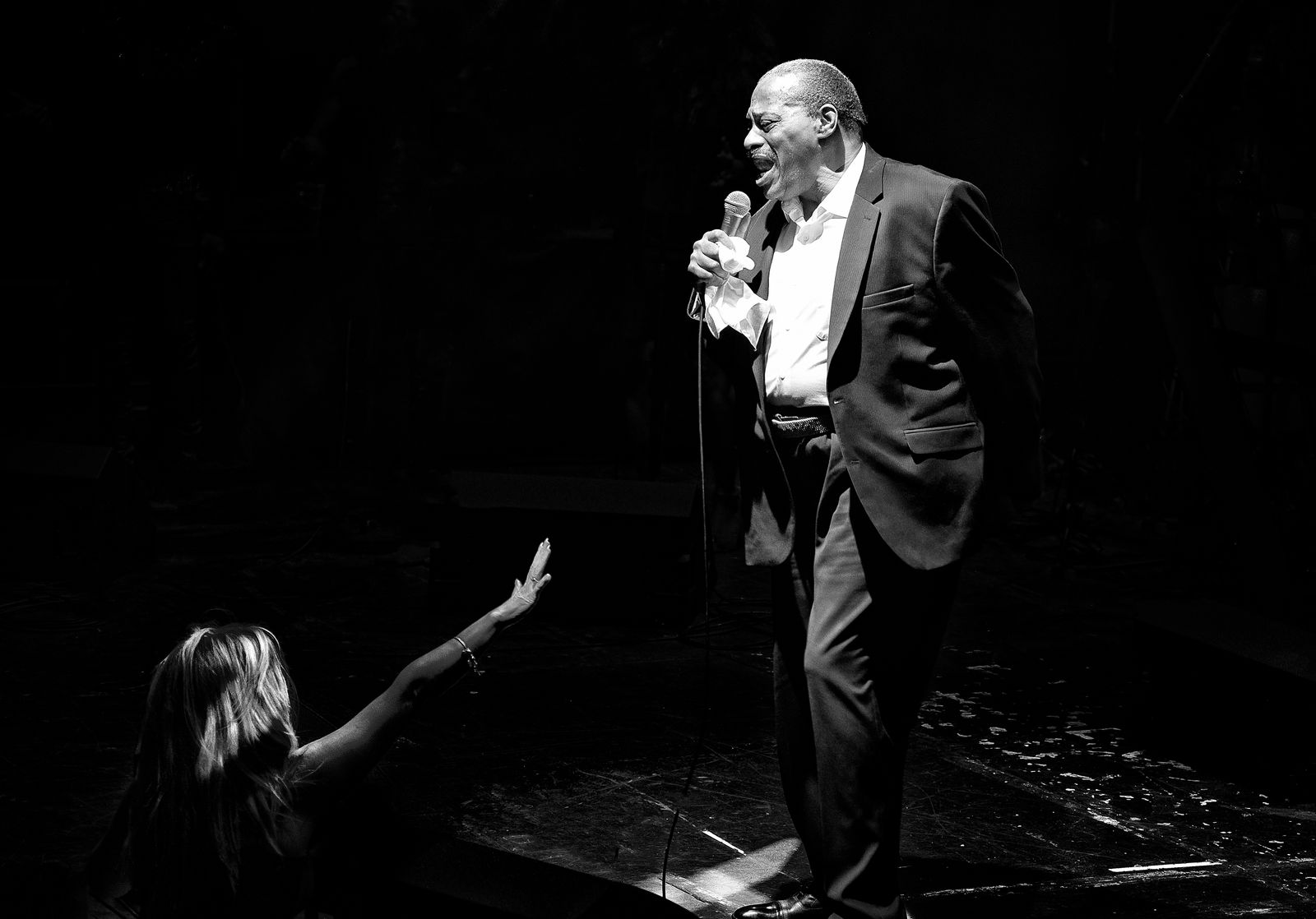 Alexander O'Neal on stage at The Olympia, Liverpool