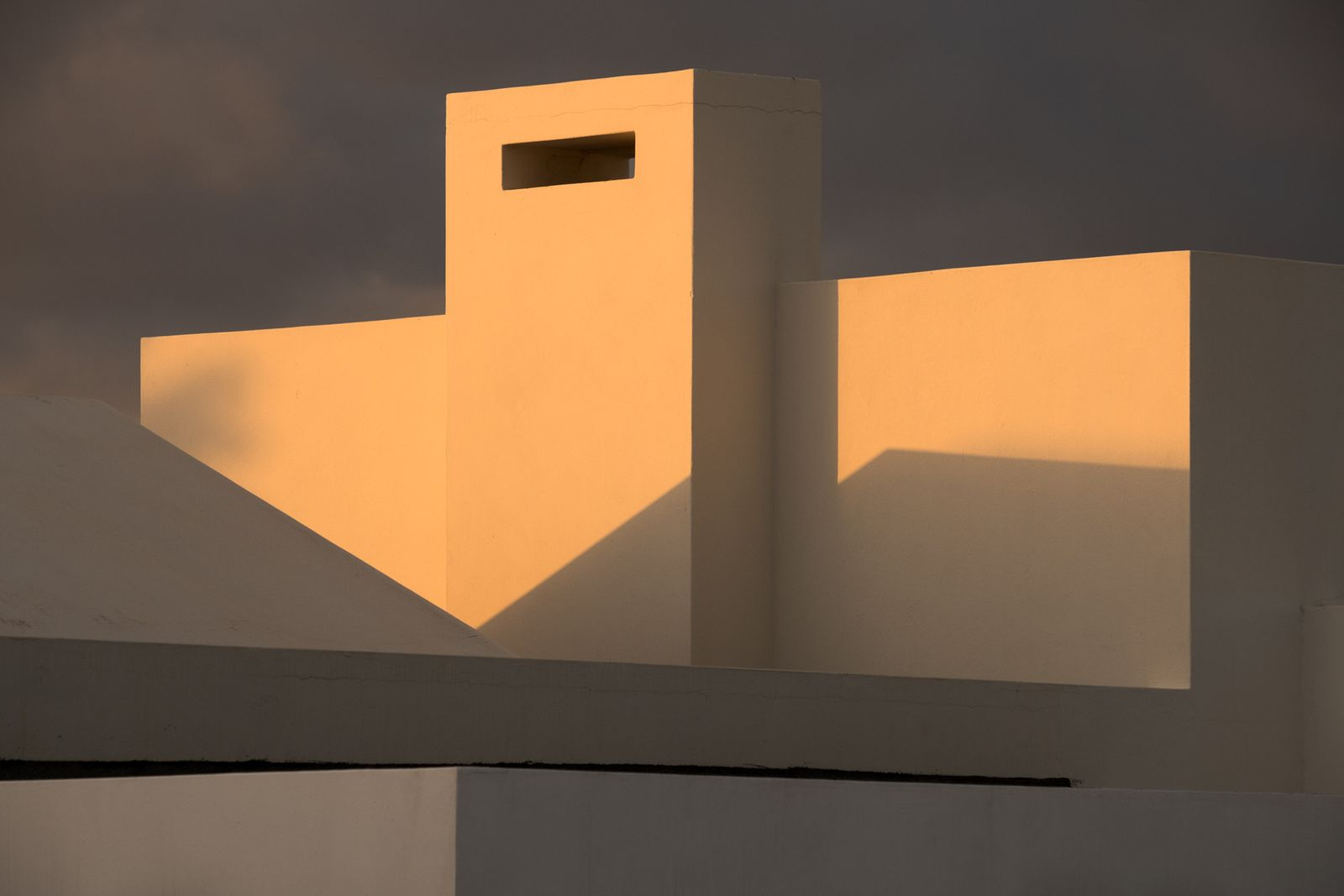 Evening sunlight on rooftop, Playa Blanca, Lanzarote